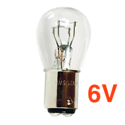 Ampoule 2 plots - 6 Volts 5W